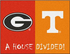 Fan Mats Georgia/Tennessee House Divided Mat