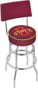 Iowa State University Double-Ring Back Bar Stool