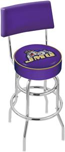 James Madison Univ Double-Ring Back Bar Stool