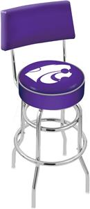 Kansas State University Double-Ring Back Bar Stool