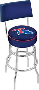 Louisiana Tech Univ Double-Ring Back Bar Stool