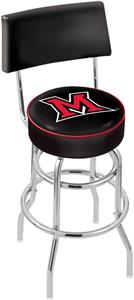 Miami University (OH) Double-Ring Back Bar Stool