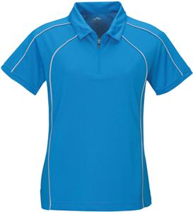 TRI MOUNTAIN Lady Hornet Ultra Cool Zip-Up Polo