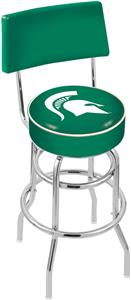 Michigan State Univ Double-Ring Back Bar Stool