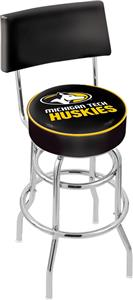 Michigan Tech Univ Double-Ring Back Bar Stool