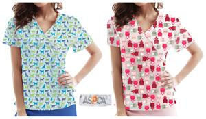 ASPCA Collection Healthcare Wrap Scrub Tops