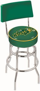 North Dakota State Univ Double-Ring Back Bar Stool