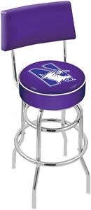 Northwestern University Double-Ring Back Bar Stool
