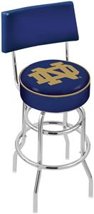 Holland Notre Dame (ND) Double-Ring Back Bar Stool
