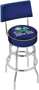 Notre Dame Leprechaun Double-Ring Back Bar Stool