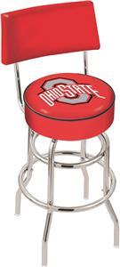 Ohio State University Double-Ring Back Bar Stool
