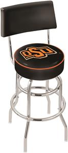 Oklahoma State Univ Double-Ring Back Bar Stool