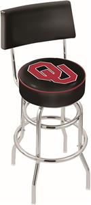 Oklahoma University Double-Ring Back Bar Stool