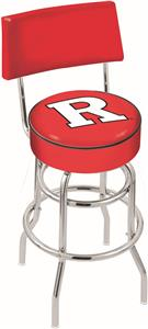 Rutgers University Double-Ring Back Bar Stool