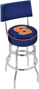 Syracuse University Double-Ring Back Bar Stool