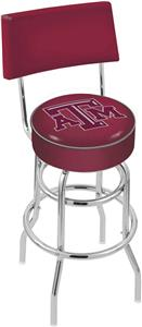 Texas A&M Double-Ring Back Bar Stool