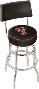 Texas Tech University Double-Ring Back Bar Stool