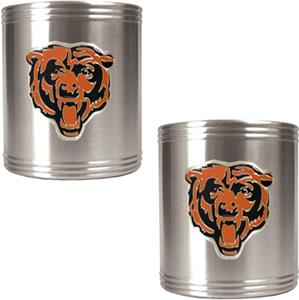 NFL Chicago Bears Stainless Steel Can Holders