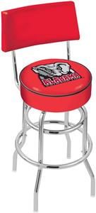 Univ Alabama Elephant Double-Ring Back Bar Stool