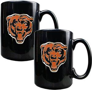 NFL Chicago Bears Black Ceramic Mug (Set of 2)