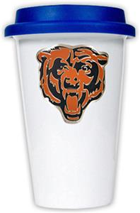 NFL Chicago Bears Ceramic Cup with Blue Lid