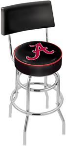 "Univ Alabama Script ""A"" Double-Ring Back Bar Stool"