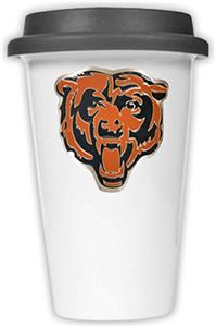 NFL Chicago Bears Ceramic Cup with Black Lid