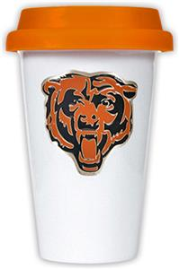 NFL Chicago Bears Ceramic Cup with Orange Lid