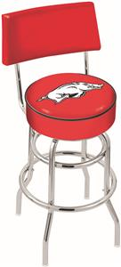 University of Arkansas Double-Ring Back Bar Stool