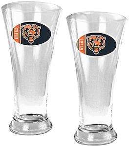 NFL Chicago Bears 2 Piece Pilsner Glass Set