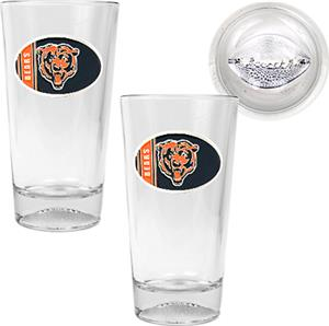 NFL Chicago Bears 2 Piece Pint Glass Set