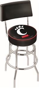 University Cincinnati Double-Ring Back Bar Stool