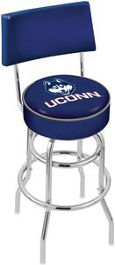 Univ of Connecticut Double-Ring Back Bar Stool