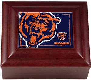 NFL Chicago Bears Mahogany Keepsake Box