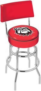 Univ of Georgia Bulldog Double-Ring Back Bar Stool
