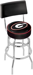 "Univ of Georgia ""G"" Double-Ring Back Bar Stool"