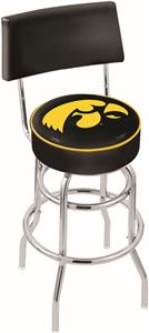 University of Iowa Double-Ring Back Bar Stool