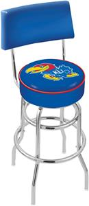 University of Kansas Double-Ring Back Bar Stool