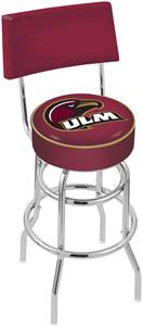 Univ Louisiana Monroe Double-Ring Back Bar Stool