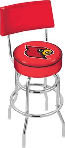 Univ of Louisville Double-Ring Back Bar Stool