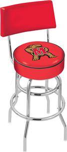University of Maryland Double-Ring Back Bar Stool