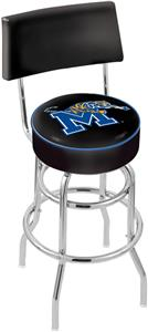 University of Memphis Double-Ring Back Bar Stool