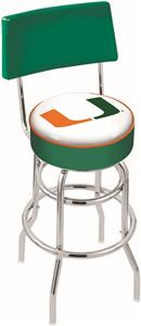 University of Miami FL Double-Ring Back Bar Stool