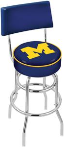 University of Michigan Double-Ring Back Bar Stool