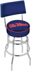 Univ of Mississippi Double-Ring Back Bar Stool