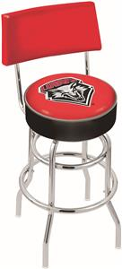 Univ of New Mexico Double-Ring Back Bar Stool