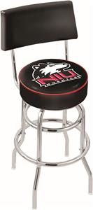 Univ Northern Illinois Double-Ring Back Bar Stool