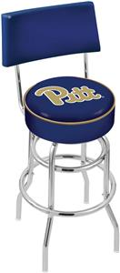 Univ of Pittsburgh Double-Ring Back Bar Stool
