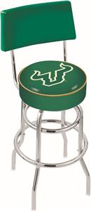 Univ of South Florida Double-Ring Back Bar Stool