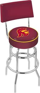 Southern California Double-Ring Back Bar Stool